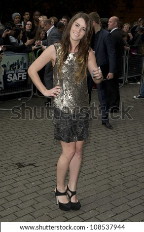 Lucie Jones arriving for the UK Premiere of SAFE IMAX Cinema  Waterloo  London 30th April 2012 Pics by Simon Burchell / Featureflash