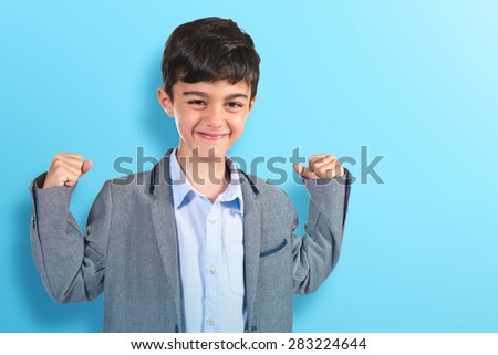 Lucky child over colorful background