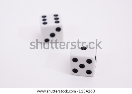 lucky devil's dices - stock photo