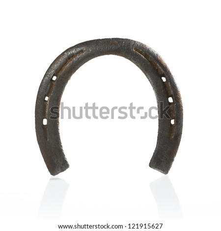 Lucky horseshoe on white