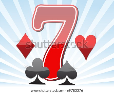 Lucky seven - stock photo