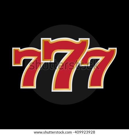 Winner triple sevens slot machine stock vector 123490435 - Lucky number 7 wallpaper ...