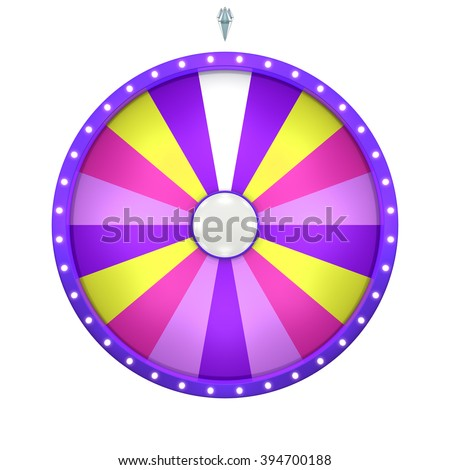 Lucky spin represent the wheel of fortune concept. This graphic is create by Three Dimensional. Welcome to add on any text and prize for use in game or sale promotion. - stock photo