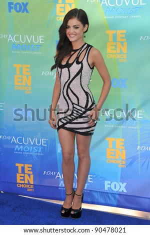 Lucy Hale at the 2011 Teen Choice Awards at the Gibson Amphitheatre, Universal Studios, Hollywood. August 7, 2011  Los Angeles, CA Picture: Paul Smith / Featureflash