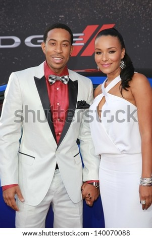 """Ludacris and Eudoxie at the """"Fast And Furious 6"""" Los Angeles Premiere, Gibson Amphitheatre, Universal City, CA  05-21-13 - stock photo"""