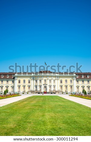 Ludwigsburg palace in Ludwigsburg, Baden-Wurttemberg, Germany - stock photo