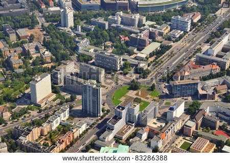 Luftbild, Berlin, Ernst Reuter Platz - stock photo