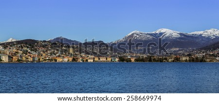 Lugano, Switzerland - stock photo