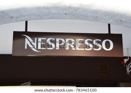 Lugano Switzerland November 27 2017 Nespresso Stock Photo Royalty