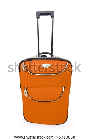 Luggage concept with case on the white