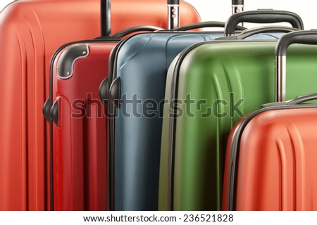 Luggage consisting of large suitcases - stock photo