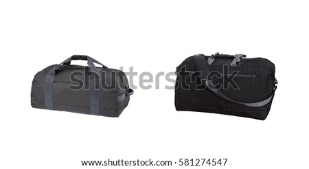 Luggage suitcase, travel bag on white