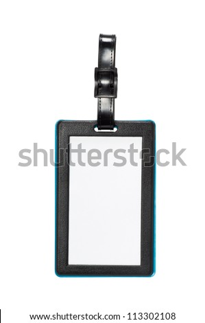 Luggage tag isolated on white background - stock photo