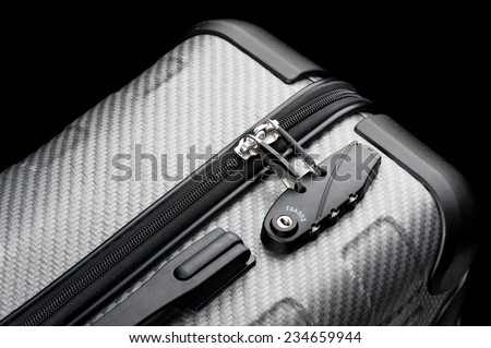 Luggage with TSA (Transportation Security Administration) Accepted Combination Lock - stock photo
