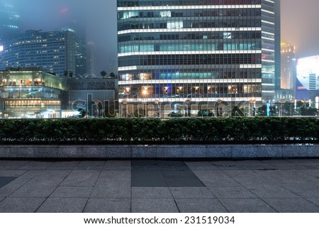 Lujiazui financial and trade zone is one of the main Shanghai financial center are - stock photo