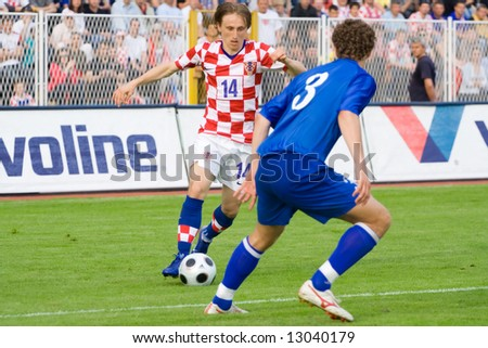 Luka Modric, Croatian footballer who plays for Real Madrid and the Croatia national football team. Modric plays mainly as a central midfielder.
