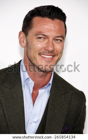 Luke Evans at the Los Angeles premiere of 'Furious 7' held at the TCL Chinese Theatre IMAX in Hollywood, USA on April 1, 2015. - stock photo