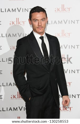 Luke Evans at WilliamVintage - VIP private dinner held at St Pancras Renaissance Hotel, London, England. 08/02/2013 Picture by: Henry Harris