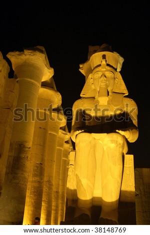 Luksor temple at night - stock photo