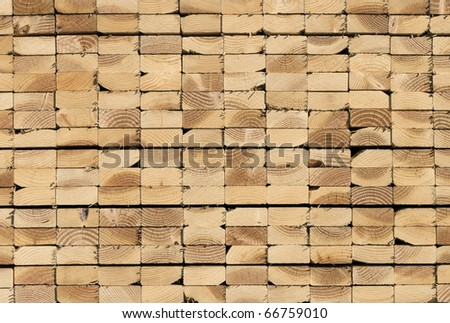 Lumber waiting for delivery - stock photo