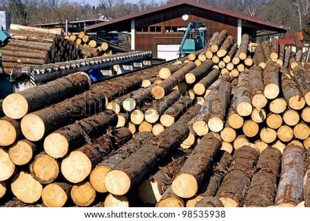 Lumberyard - stock photo