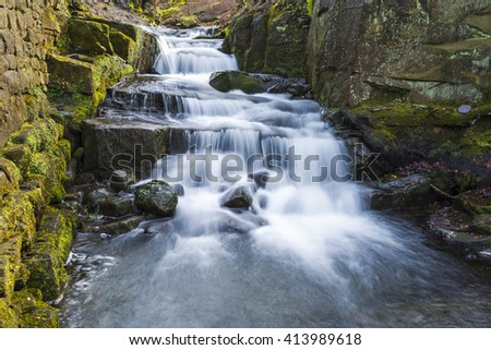Lumsdale falls in Matlock, UK