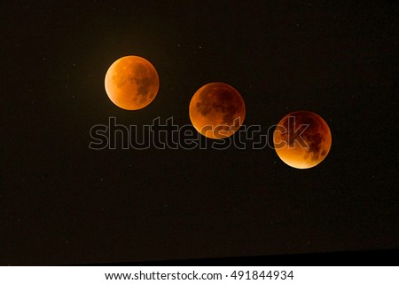 lunar eclipse before, during, and after