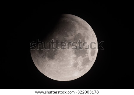 Lunar eclipse red moon - stock photo