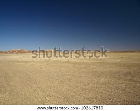 Lunar landscape in the Breakaways near Coober Pedy, Australia - stock photo