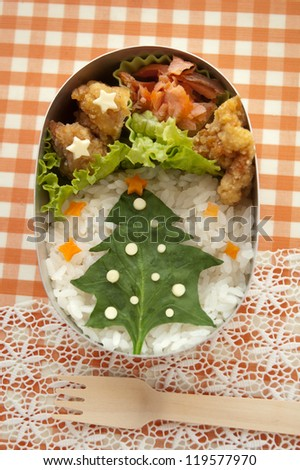lunch box - stock photo
