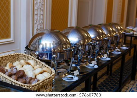 Amazing Lunch Dinner Buffet Food Catering Banquet In Hotel Restaurant Delicious Buffet  Table At A Luxury Event