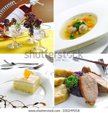 Lunch menu in a restaurant - stock photo