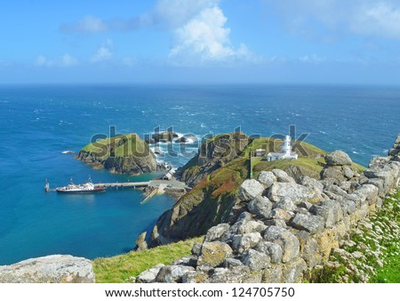 Lundy Island - stock photo