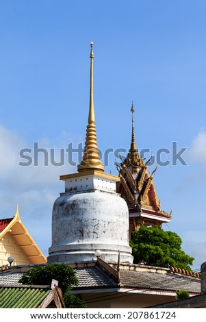 Lung Po Pra Sad Pond Chapel at Wat Ban Dong in Rayong , Thailand - stock photo