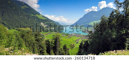 Lungern village in Switzerland (Europe) - panoramic view