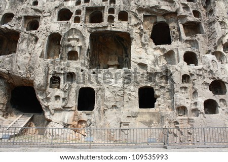Luoyang Longmen Grottoes, located in Luoyang City, Henan China