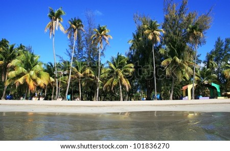 Luquillo Beach, Puerto Rico - stock photo