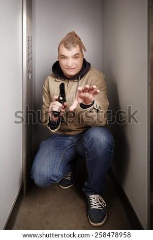 Lurking for defenseless victim - stock photo