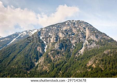 Lush Mountain at North Cascades National Park - stock photo