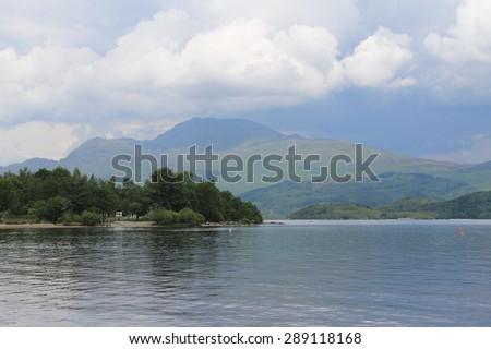 Luss - Loch Lomond - Scotland - stock photo
