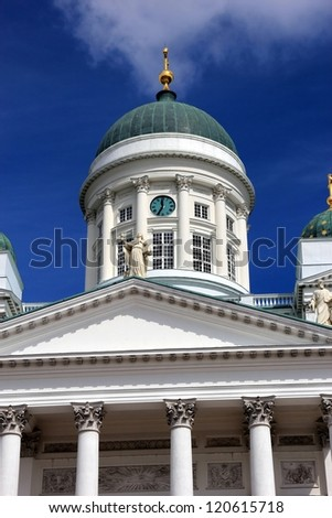 Lutherian cathedral in Helsinki, Finland