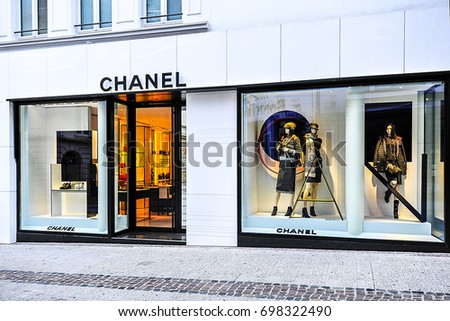 LUXEMBOURG_AUG 10: fashion store on August 10,2017 in Luxembourg.CHANEL is a French fashion company in Paris, France.