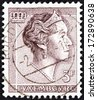 LUXEMBOURG - CIRCA 1960: A stamp printed in Luxembourg shows Grand Duchess Charlotte, circa 1960.  - stock