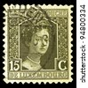 "LUXEMBOURG - CIRCA 1914: A stamp printed in Luxembourg shows portrait of Grand Duchess of Luxembourg Marie Adelaide with inscription ""Grand Duchess"", series ""Grand Duchess Marie Adelaide"", circa 1914 - stock photo"