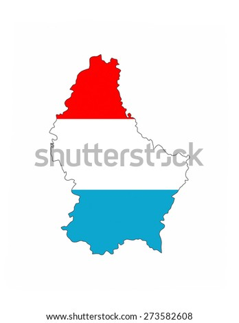 luxembourg country flag map shape national symbol - stock photo