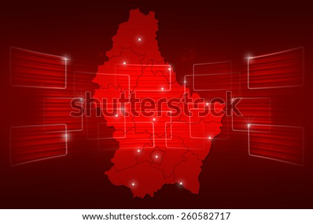 Luxembourg Map World map News Communication delivery red