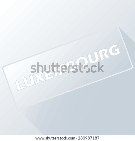 Luxembourg unique button for any design