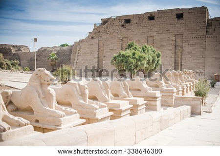 Luxor - a city in Upper Egypt, on the east bank of the Nile. In Luxor and around the city are some of the most important archaeological sites in Egypt. Karnak. - stock photo