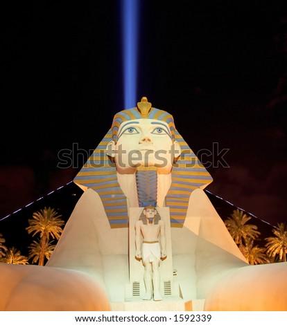 Luxor Las Vegas at Night - stock photo