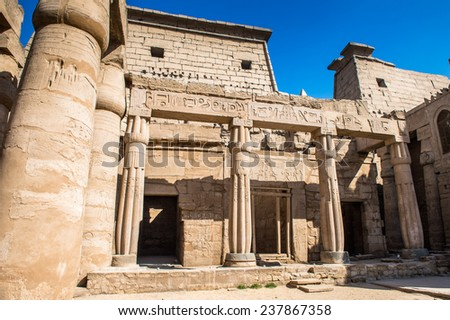 Luxor Temple, a large Ancient Egyptian temple, East Bank of the Nile, Egypt. UNESCO World Heritage - stock photo